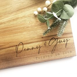 Wooden Board Forever in Love -Personalised