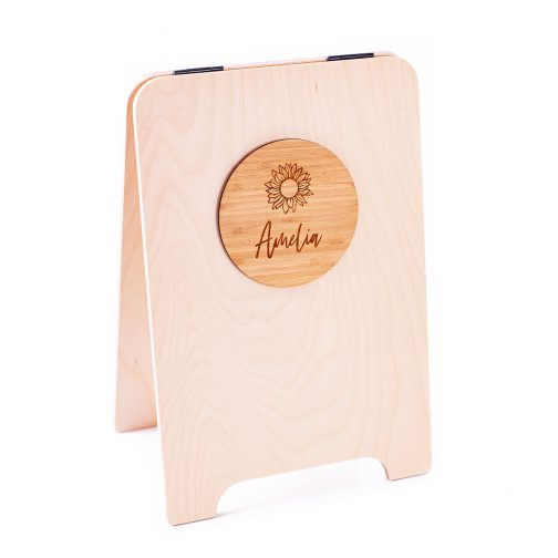 a-frame with bamboo plaque