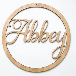 Name Plaque- Personalised Hoop Sign