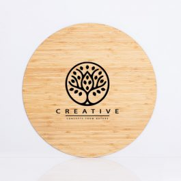 Storefront Business Sign – Round Bamboo