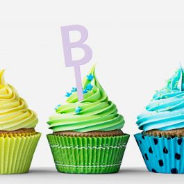 Custom Letter Cupcake Topper- pkt 12