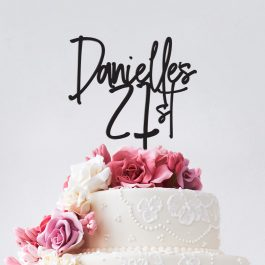 Personalised Name + Age Cake Topper-Emily Font