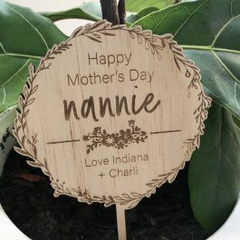 Happy Mother's Day Personalised Planter Stick
