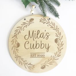 Name Plaque Cubby House Sign- Botanical Native Theme