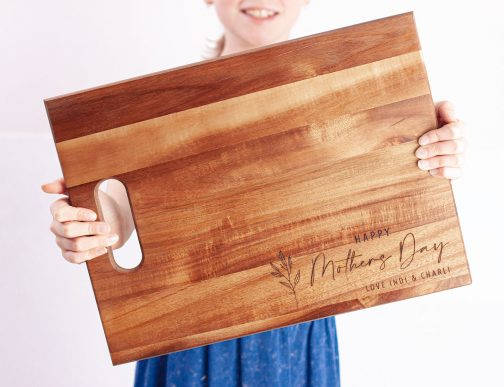 Mothers day personalised bread board