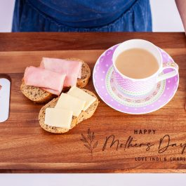 laser engraved wood chopping board mothers day
