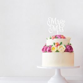 MR & MRS Cake Topper – Casey Font