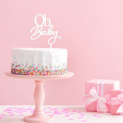 oh-baby baby shower cake topper