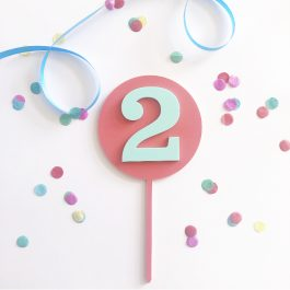 Paddle POP! Number Cake Topper