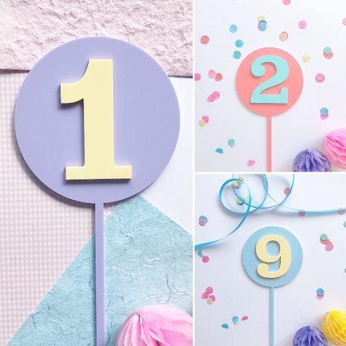birthday cake topper number
