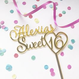 Personalised Sweet 16 Cake Topper