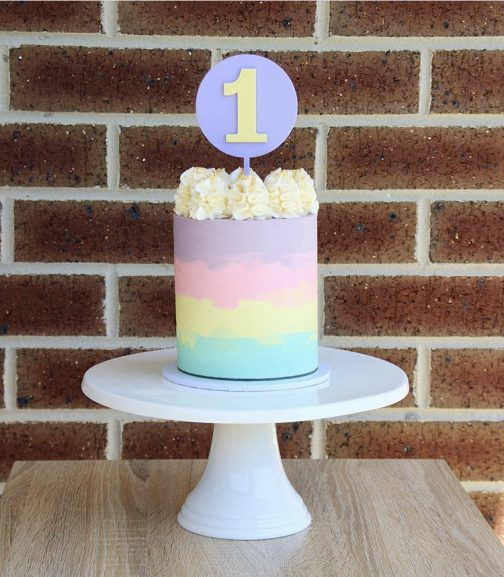 The Little Treat Boutique Cake Birthday Number Cake Topper