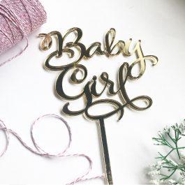 Baby Girl Cake Topper