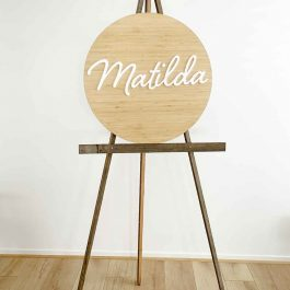 Name Plaque Personalised – Various Round Sizes