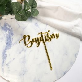 Baptism Cake Topper