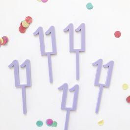 Number Digit Cupcake Topper Standard Font- pkt 12