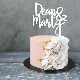 Two Name Wedding Cake Topper – Eliza Font
