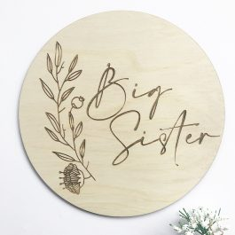 Big Brother/ Big Sister Announcement Plaque