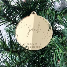Forever in our Hearts Personalised Christmas Bauble
