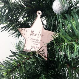Personalised Teacher Star- Believing in me