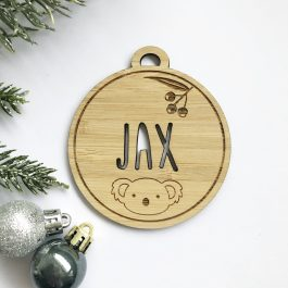 Personalised Christmas Bauble- Australiana Theme