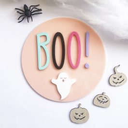 BOO!  Round Sign