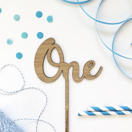 One Cake Topper- Standard Font