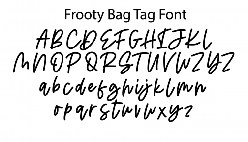 bag-tag-font-frooty-design