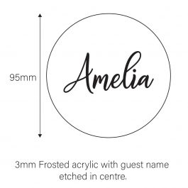 Frosted Acrylic Wedding Coasters – Amelia