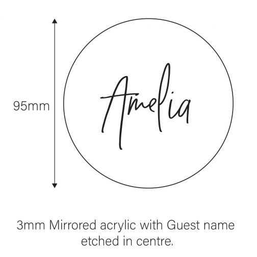 mirror name place card