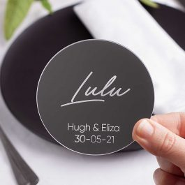 Mirrored Acrylic Wedding Coasters – Lulu