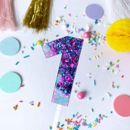 number-cake-topper-purple-sparkle