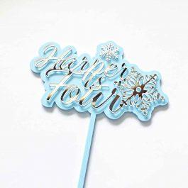 Snowflake Cake Topper -Personalised