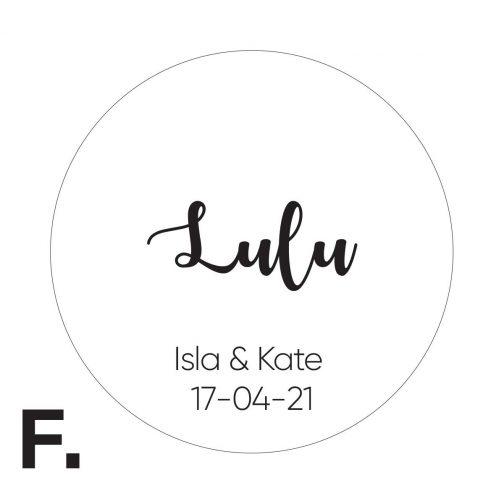 laser engraved wedding names