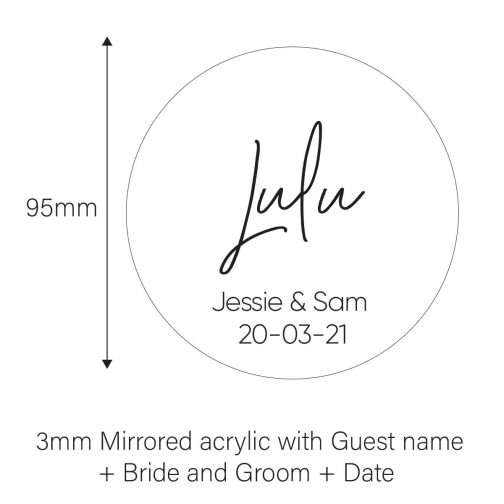 wedding coasters mirrored name place cards for wedding