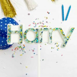 Personalised Name Cake Topper- Layered Bubble