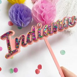 Personalised Name Cake Topper- Layered Sparkle