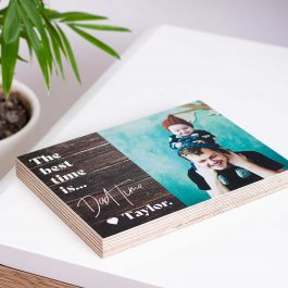 Father's Day Wood Photo Block