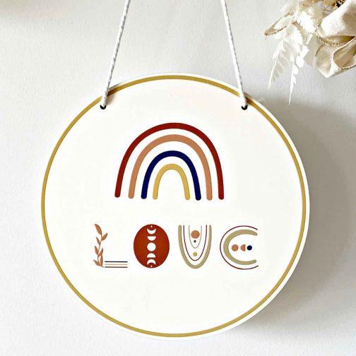 Love Round Print Plaque