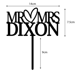 MR & MRS Cake Topper- Personalised