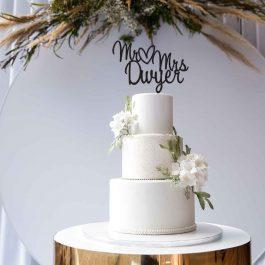 MR & MRS Cake Topper- Personalised Script